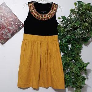 TIANA B. Embroider Black Khaki Dress Size 10